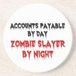 Asesino del zombi de las cuentas a pagar posavasos diseño