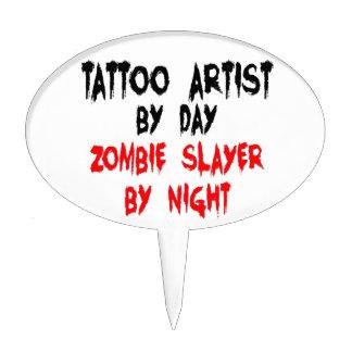 Asesino del zombi del artista del tatuaje palillos de tarta