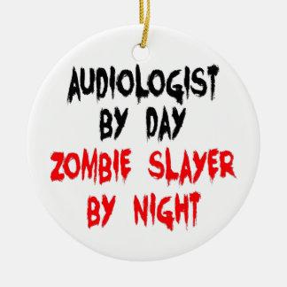 Asesino del zombi del audiólogo ornamentos para reyes magos