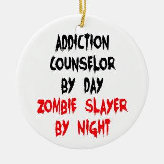 Asesino del zombi del consejero del apego adorno redondo de cerámica