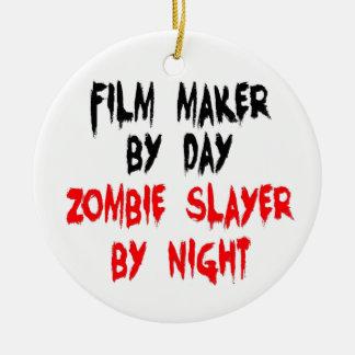 Asesino del zombi del director de cine ornamentos de reyes