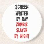 Asesino del zombi del guionista posavasos diseño