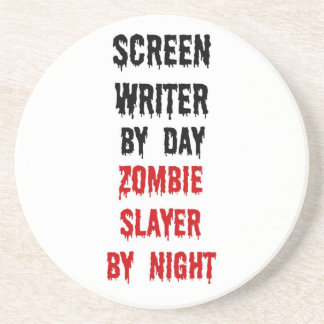 Asesino del zombi del guionista posavasos manualidades