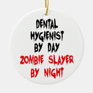 Asesino del zombi del higienista dental adorno de navidad