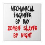 Asesino del zombi del ingeniero industrial azulejo cuadrado pequeño