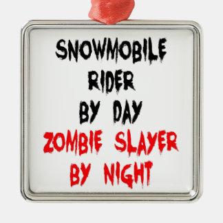 Asesino del zombi del jinete del Snowmobile Ornamento De Navidad