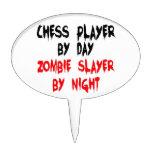 Asesino del zombi del jugador de ajedrez decoraciones para tartas