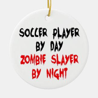 Asesino del zombi del jugador de fútbol ornamente de reyes