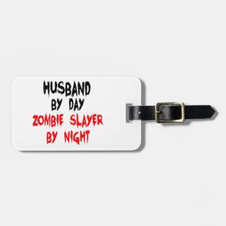 Asesino del zombi del marido etiquetas maleta