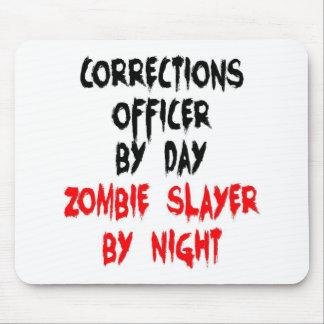 Asesino del zombi del oficial de correcciones alfombrillas de ratones