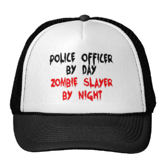 Asesino del zombi del oficial de policía gorras de camionero