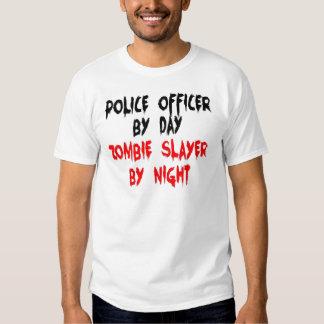 Asesino del zombi del oficial de policía playeras
