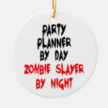 Asesino del zombi del planificador del fiesta ornamentos de navidad