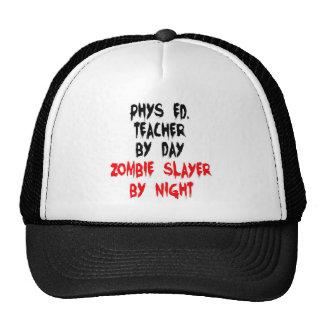 Asesino del zombi del profesor de Phys Ed Gorros Bordados