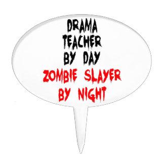 Asesino del zombi del profesor del drama decoración para tarta