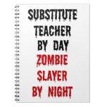 Asesino del zombi del profesor sustituto cuaderno