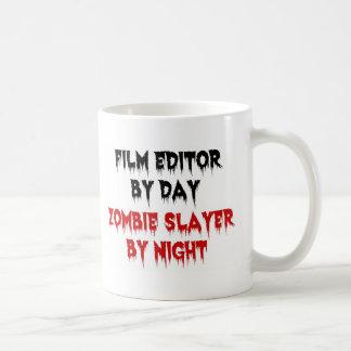 Asesino del zombi del redactor de la película taza básica blanca