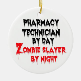 Asesino del zombi del técnico de la farmacia adornos