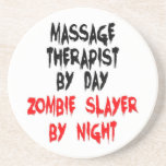 Asesino del zombi del terapeuta del masaje posavasos manualidades