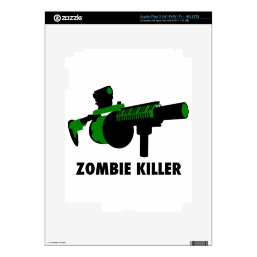 Asesino del zombi iPad 3 pegatina skin
