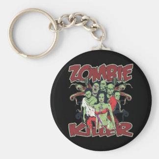 Asesino del zombi llavero personalizado