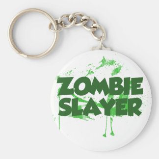 Asesino del zombi llavero redondo tipo pin
