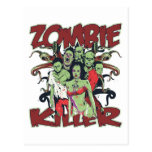 Asesino del zombi postales