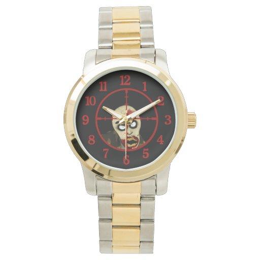 Asesino del zombi relojes de pulsera