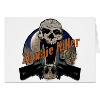 Asesino del zombi felicitacion