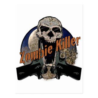 Asesino del zombi tarjeta postal