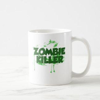 Asesino del zombi taza básica blanca