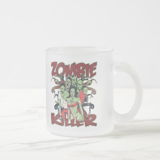 Asesino del zombi tazas de café