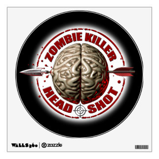 Asesino del zombi vinilo adhesivo