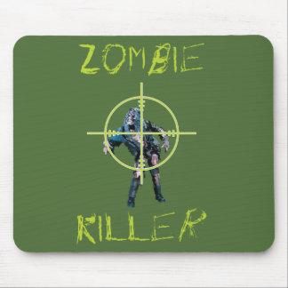 Asesino del zombi y pelo cruzado mousepad