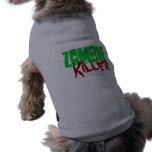 Asesino divertido del zombi de la camisa del perro playera sin mangas para perro