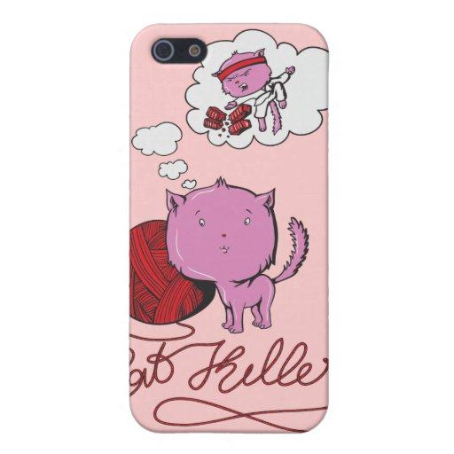 asesino dulce del kittie o de la rata iPhone 5 carcasa