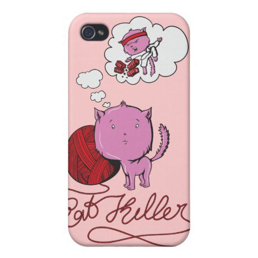 asesino dulce del kittie o de la rata iPhone 4 cárcasas