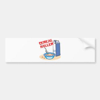 asesino en serie del cereal pegatina de parachoque