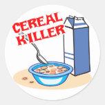 asesino en serie del cereal pegatina redonda