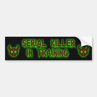 Asesino en serie en pegatina para el parachoques d pegatina para auto