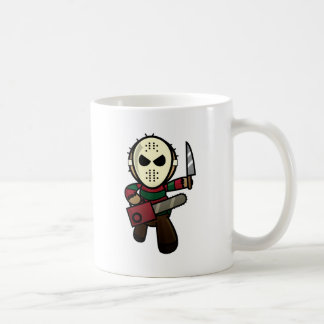 Asesino en serie lindo del dibujo animado taza de café