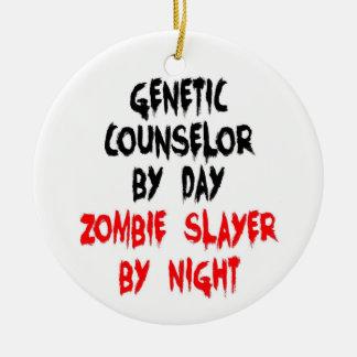 Asesino genético del zombi del consejero adornos de navidad