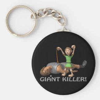 Asesino gigante llavero redondo tipo pin