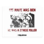 Asesino gráfico del zombi de la plantilla postales
