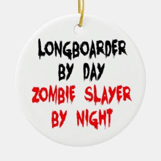 Asesino Longboarder del zombi Ornaments Para Arbol De Navidad