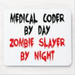 Asesino médico del zombi del codificador alfombrillas de ratones