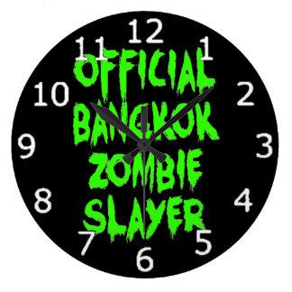 Asesino oficial del zombi de Bangkok Reloj Redondo Grande