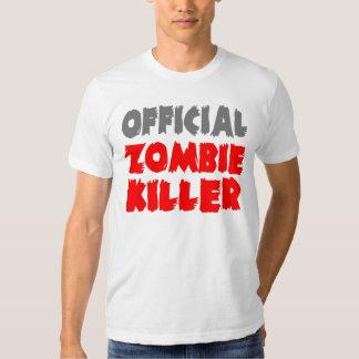 Asesino oficial del zombi playera