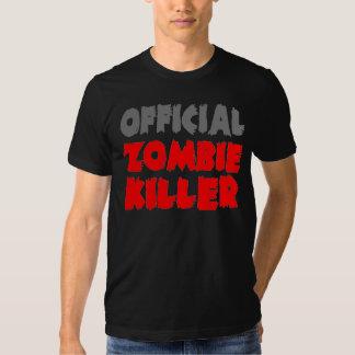 Asesino oficial del zombi remeras