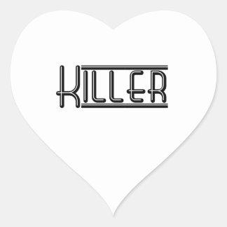 Asesino Pegatina En Forma De Corazón